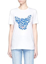 Etre Cecile 'Dog Star' Print Cotton T Shirt White