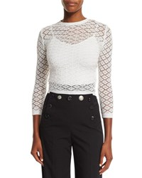 Marc Jacobs Knit Lace 3 4 Sleeve Sweater Black