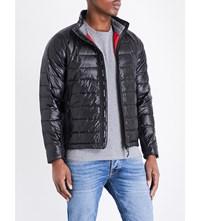 Canada Goose Hybridge Lite Quilted Shell Jacket Black Red