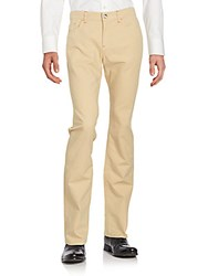 Loro Piana Solid Straight Leg Jeans Light Tan