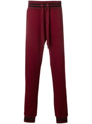 Dolce And Gabbana Drawstring Track Pants Red