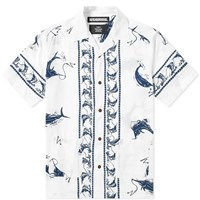Neighborhood Short Sleeve Swordfish Shirt White