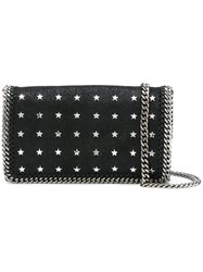 Stella Mccartney Star Studded Falabella Shoulder Bag Black