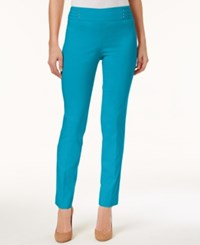 Jm Collection Petite Tummy Control Pull On Pants Created For Macy's Reef Aqua