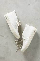 Anthropologie Seavees Canvas Maslon Boot Sneakers White
