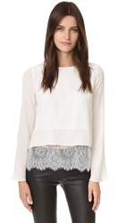 One By Cami Nyc The Bell Long Sleeve Blouse White