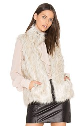 Bb Dakota Brewer Faux Fur Vest Beige