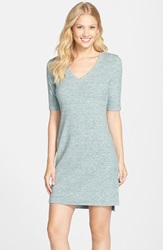 Tart 'Daria' Melange T Shirt Dress Green Melange