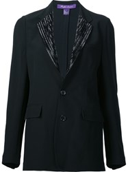 Ralph Lauren 'Yvette' Beaded Jacket Black