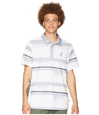 Toes On The Nose Frondtastic Short Sleeve Polo Slate Short Sleeve Knit Metallic