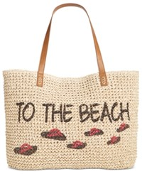 Style And Co Co. To The Beach Straw Tote Only At Macy's