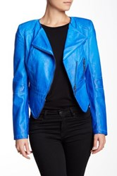 Fillmore The Vegan Leather Jacket Blue