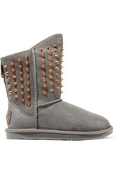 Australia Luxe Collective Pistol Studded Shearling Ankle Boots Anthracite