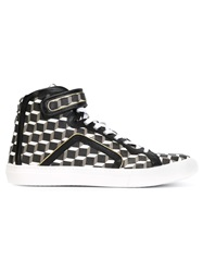 Pierre Hardy 'Cube' Hi Top Sneakers Black