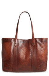 Frye Melissa Leather Shopper Brown Cognac