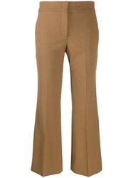 Piazza Sempione Cropped Flared Trousers Brown