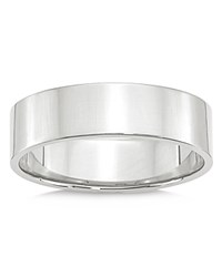 Bloomingdale's 6Mm Lightweight Flat Band In 14K White Gold 100 Exclusive