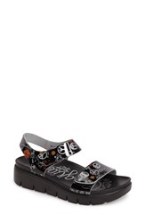Alegria Women's Playa Sandal Peace And Love Black Leather