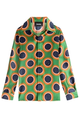 Dsquared Printed Silk Blouse