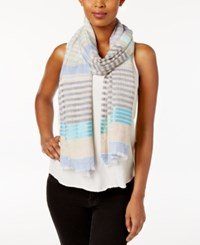 Steve Madden Speckled Stripe Scarf Denim
