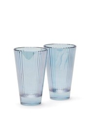 Luisa Beccaria Set Of Two Isis Water Glasses Blue
