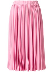 N 21 No21 Pleated Midi Skirt Women Silk Acetate 42 Pink Purple
