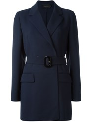 Calvin Klein Collection Belted Blazer Jacket Blue