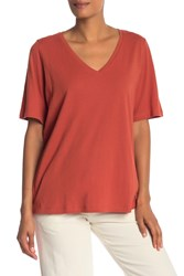 Eileen Fisher V Neck Organic Cotton Tee Orgpe