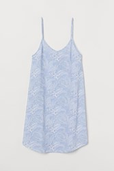 Handm H M Patterned Nightgown Blue