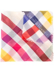 Carolina Herrera Checked Print Scarf Multicolour