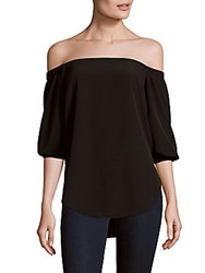 Amanda Uprichard Solid Off The Shoulder Top Black