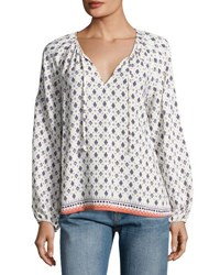 Sanctuary Ivy Boho Printed Top White Pattern