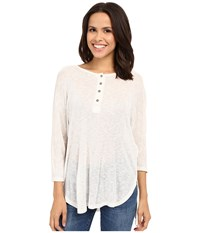 Culture Phit Daphne Long Sleeve Button Up Top Ivory Women's Long Sleeve Button Up White
