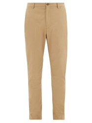 Burberry Shibden Icon Stripe Lined Cotton Twill Chinos Beige