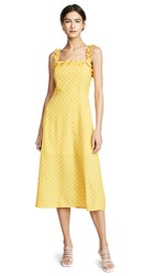 Re Named Remy Polka Day Dress Yellow White