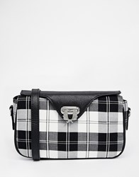Fred Perry Across Body Bag In Monochrome Check Multi