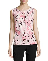 Nipon Boutique Floral Print Shell Pink