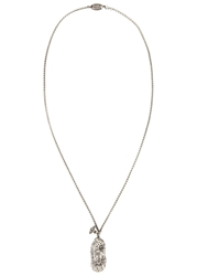 Vivienne Westwood Silver Tone Peanut Locket Necklace