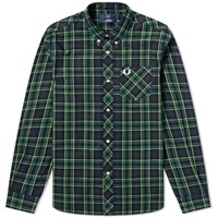 Fred Perry Tartan Shirt Black