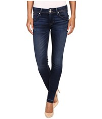Hudson Collin Mid Rise Released Hem Skinny W Distress In Pin Point Pin Point Women's Jeans Blue