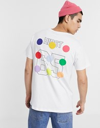 Les Artists Art Ists X Damien Hirst Dot Print T Shirt In White