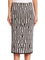 Proenza Schouler Knit Pencil Skirt Black White