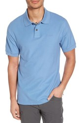 Patagonia Belwe Relaxed Fit Pique Polo Railroad Blue