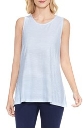 Vince Camuto Women's Two By Charter Mini Stripe Tank Pale Chambray