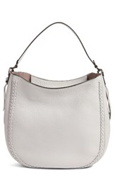 Rebecca Minkoff Unlined Convertible Whipstitch Hobo Grey Putty Gunmetal