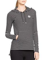 Lauren Ralph Lauren Striped Hoodie Black White