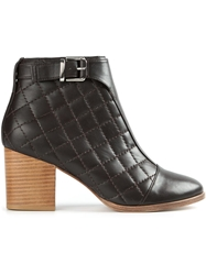 Thakoon Addition Quilted Ankle Boots Brown