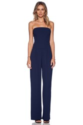 Sam Edelman Strapless Wideleg Jumpsuit Navy