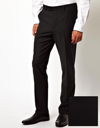 Red Eleven Slim Fit Tuxedo Pants Black