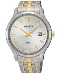 Seiko Men's Special Value Two Tone Stainless Steel Bracelet Watch 41Mm Sur147